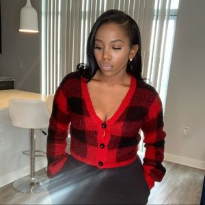 Red & Black Checkered Sweater
